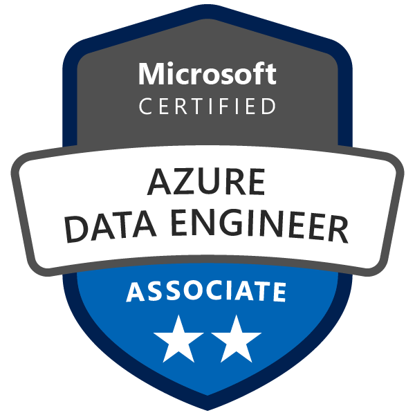 Microsoft certified Azure data engineer associate logo