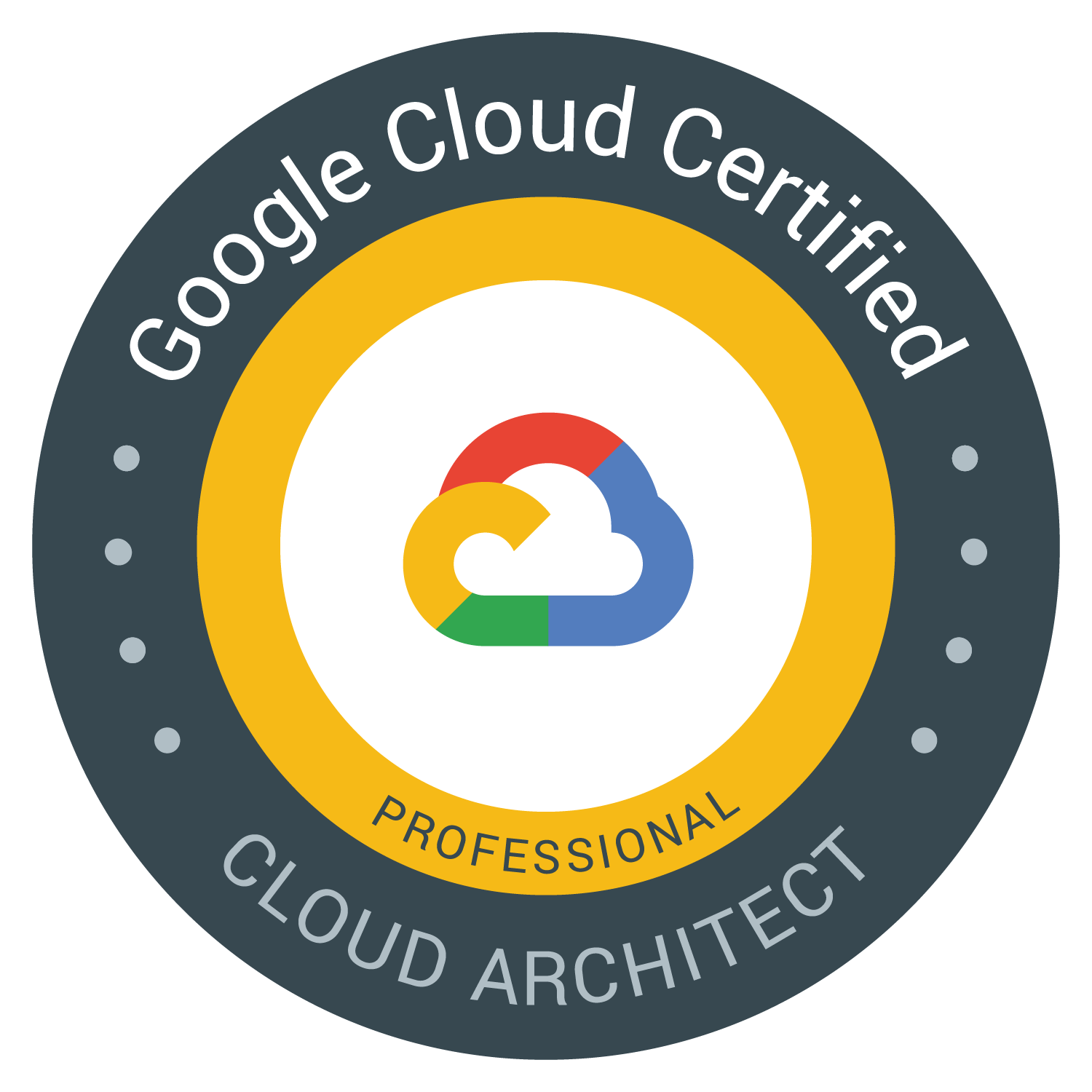 Google cloud certified cloud architect logo